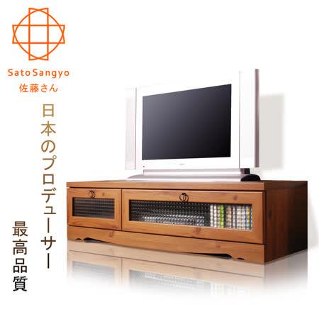 【Sato】PISTRO巴黎公寓視聽電視櫃‧幅120cm