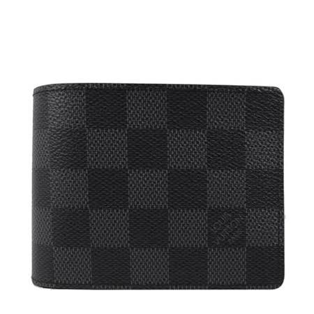 【好物推薦】gohappy 線上快樂購Louis Vuitton LV N63261 黑棋盤格紋多卡雙折短夾 _預購推薦gohappy 購物 金