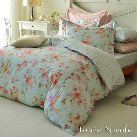 (好康)東妮寢飾春日微風精梳棉兩用被床包組(雙人)