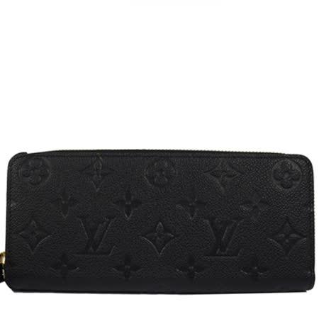 Louis Vuitton LV M60171 Clemence 經典花紋全皮革壓紋拉鍊長夾_預購