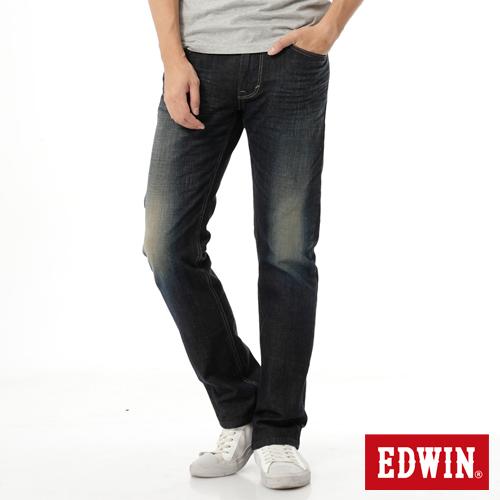 EDWIN EDGE雙口袋直筒牛仔褲~男~中古藍