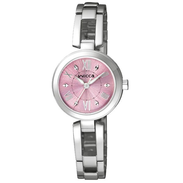 CITIZEN WICCA 傾訴愛戀氣氛 腕錶~粉紅X銀