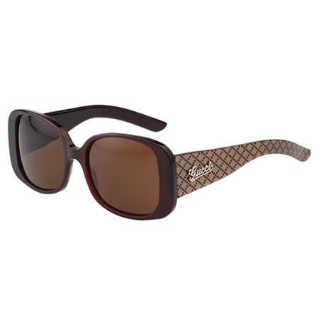 GUCCI 時尚太陽眼鏡(咖啡色GG-20E)