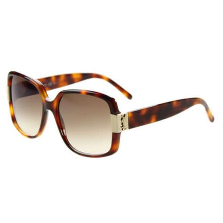 YSL-時尚太陽眼鏡 (共琥珀.黑2色)