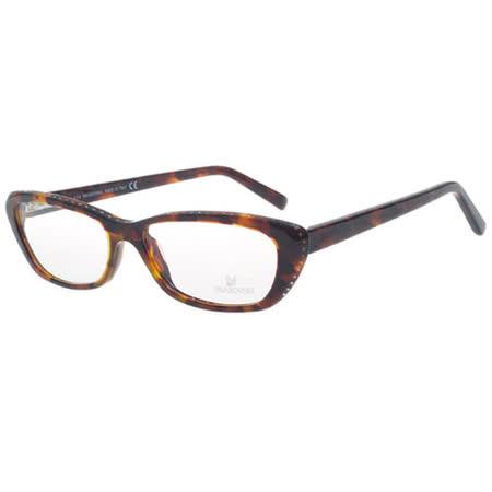 SWAROVSKI-時尚光學眼鏡(琥珀色)SW5013