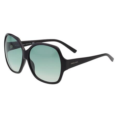 施華洛世奇時尚低調款 SWAROVSKI-時尚太陽眼鏡(黑色)SW15