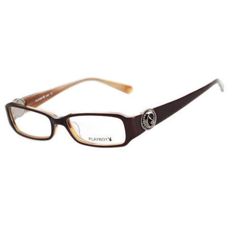 PLAYBOY-時尚光學眼鏡 (咖啡色)PB85151