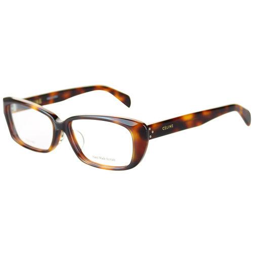 CELINE-時尚光學眼鏡(琥珀色/紅色)