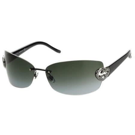 GUCCI-時尚太陽眼鏡(銀色/金色)