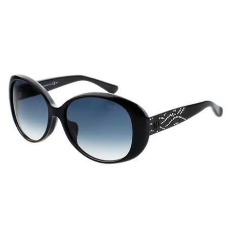 ARMANI-時尚太陽眼鏡(黑/琥珀色)