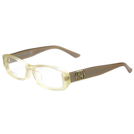 GUCCI-時尚光學眼鏡(透明黃)