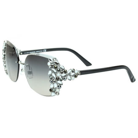 SWAROVSKI-時尚太陽眼鏡 (銀色)