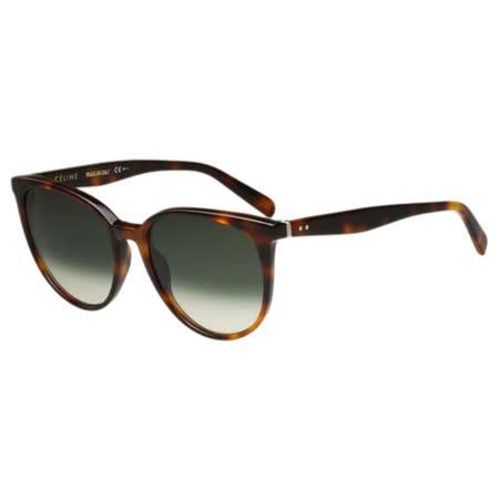 CELINE- 低調圓面復古 太陽眼鏡 (琥珀色)