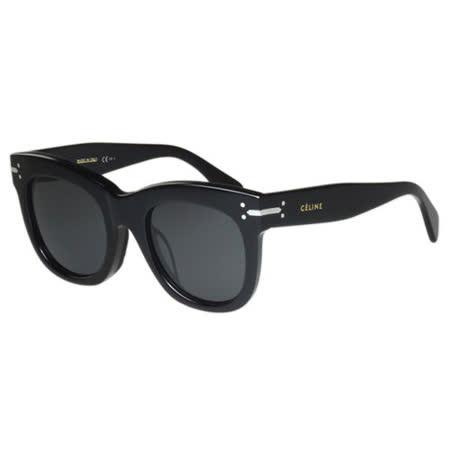CELINE- 圓面復古 太陽眼鏡 (黑色)
