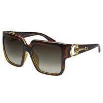 GUCCI- 時尚金球 太陽眼鏡 (琥珀色)