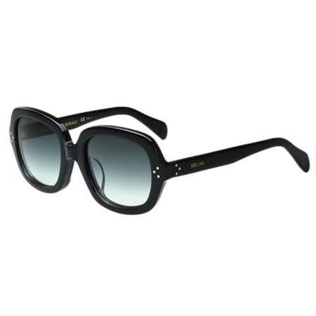 CELINE- 圓面復古 太陽眼鏡CL41013FS (黑色)