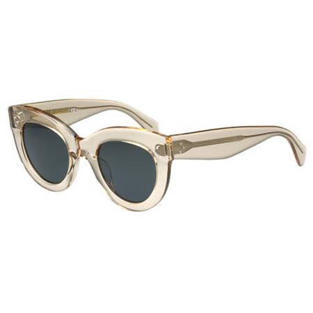 【勸敗】gohappy快樂購物網CELINE- 圓形復古 太陽眼鏡 (透明色)效果好嗎愛 買 酒