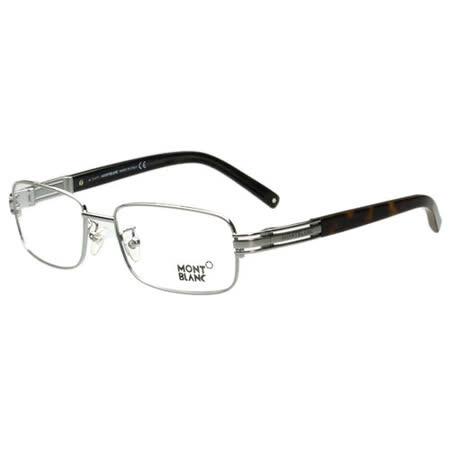 萬寶龍MONTBLANC-時尚光學眼鏡(銀色)MB384-014