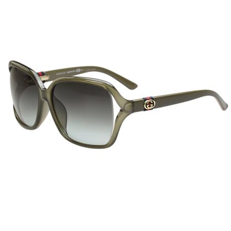 GUCCI-時尚太陽眼鏡(亞麻綠色)