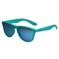 Polaroid 寶麗萊 摺疊偏光反光鏡面太陽眼鏡(藍綠色)