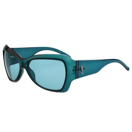 YSL-時尚太陽眼鏡(果凍綠)