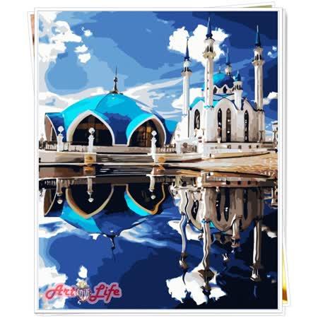 【ArtLife】創意油畫、數字油畫DIY_(情定愛琴海)