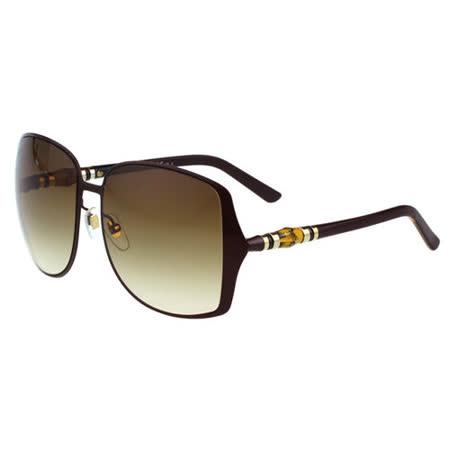 GUCCI-竹節太陽眼鏡(咖啡色)