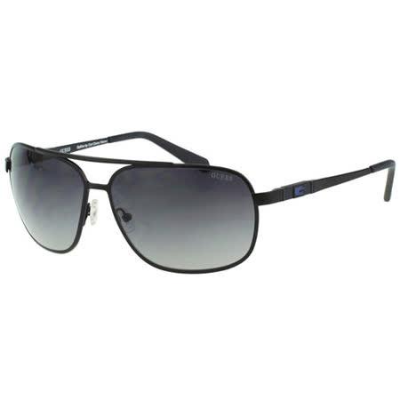 GUESS-時尚中性太陽眼鏡(黑色)