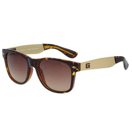 GUESS-時尚中性太陽眼鏡(琥珀色)