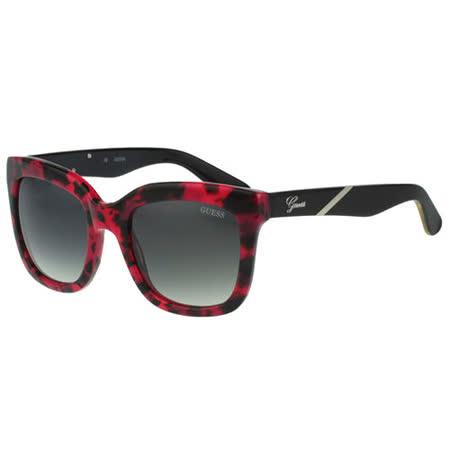 GUESS-時尚迷彩太陽眼鏡(紅色豹紋)