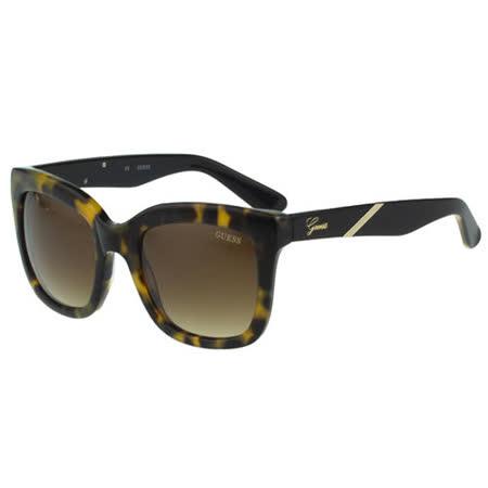 GUESS-時尚迷彩太陽眼鏡(黃色豹紋)