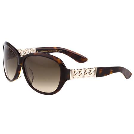 YSL-時尚太陽眼鏡(琥珀色)