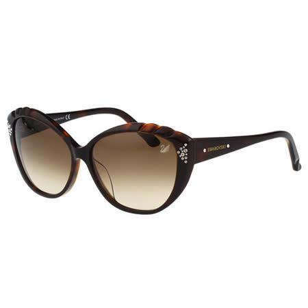 SWAROVSKI 貓眼 水鑽 太陽眼鏡(琥珀色)