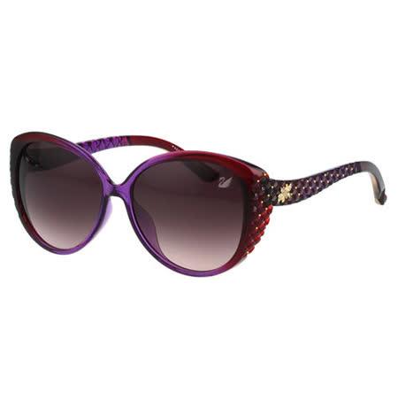 SWAROVSKI 雕刻 水鑽 太陽眼鏡(漸層紫紅色)