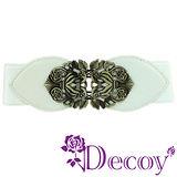 【Decoy】宮廷巴洛克*古銅彈性腰封/白