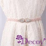 【Decoy】滴型水鑽*編織珍珠腰封/粉