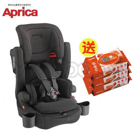 愛普力卡 Aprica AirGroovePlus 頭等艙成長型輔助汽車安全座椅-黑色奇蹟