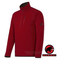 【瑞士 MAMMUT 長毛象】新款 Polar ML 男超強快乾彈性保暖上衣(Polartec Thermal Pro)類羊毛中層排汗衣.透氣刷毛衣 暗紅 00892-3224