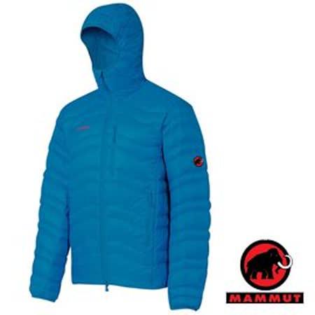 【瑞士 MAMMUT 長毛象】男新款 Broad Peak Jacket 高品質連帽防風保暖鵝絨外套/防潑水羽絨衣.夾克大衣.登山滑雪賞雪 18460-5611 藍