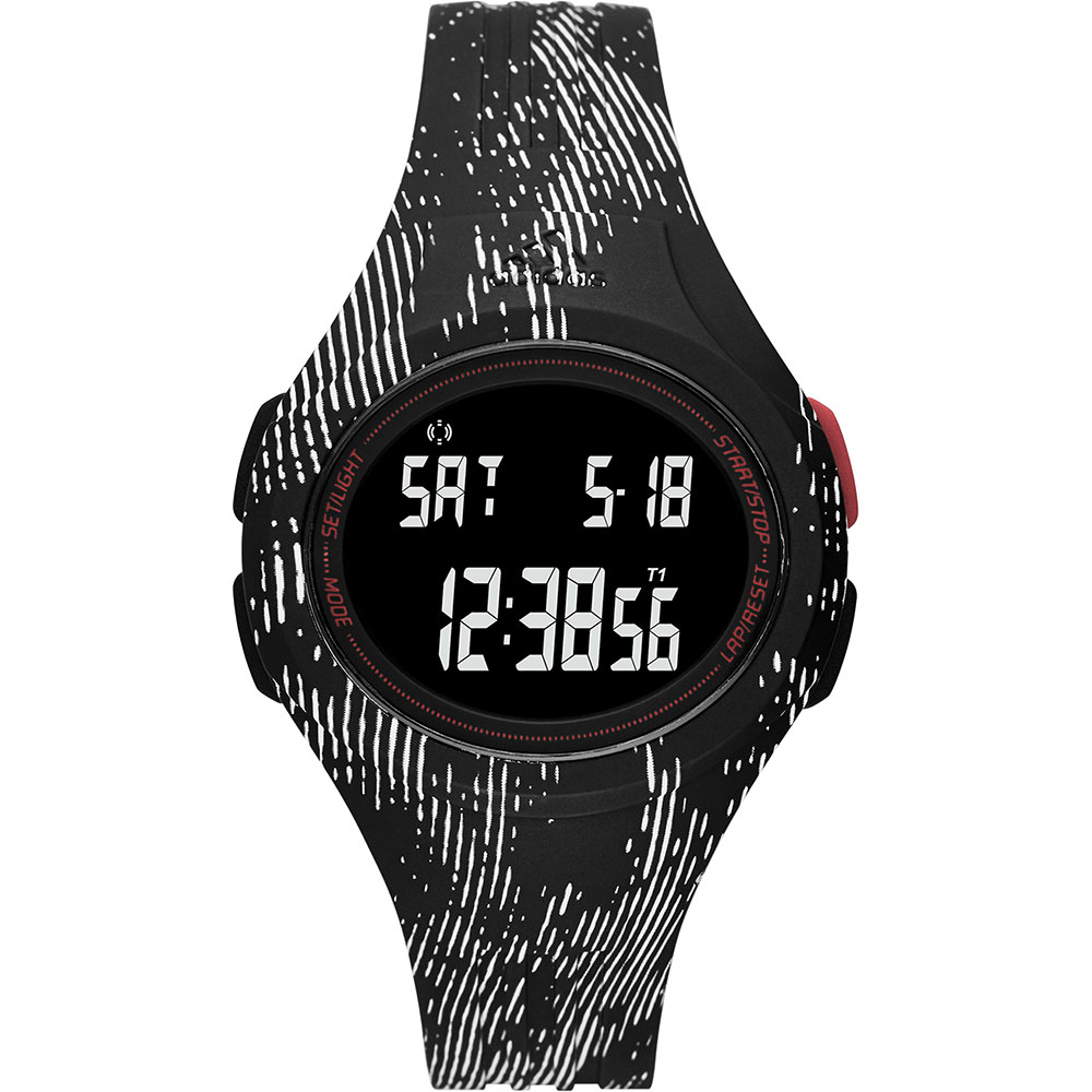 adidas 印制紋風電子腕錶~黑42mm ADP3178