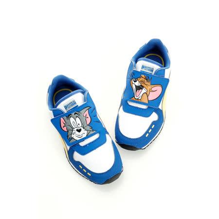 PUMA (童)賽車鞋-藍白-35819401