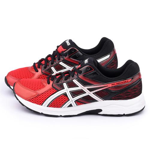 Asics 男款 GEL-CONTEND 3 慢跑鞋T5F4N-1801-紅黑