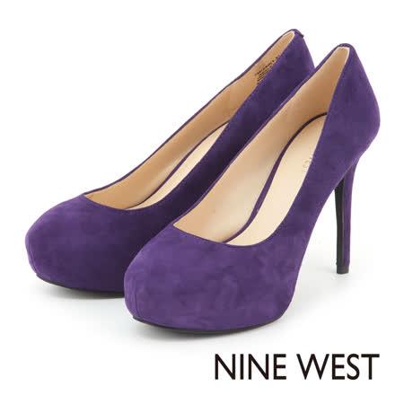 NINE WEST 時尚典雅奧黛莉風 素面高跟鞋 - 紫色