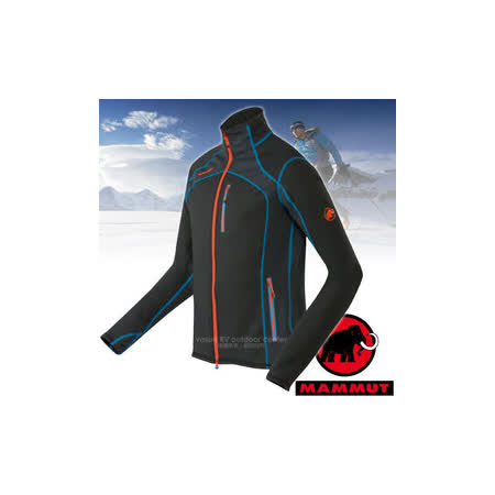 【瑞士 MAMMUT 長毛象】男新款 Eiswand Jacket 頂級極限保暖刷毛外套.刷毛抓絨外套/Polartec® Thermal Pro科技刷毛/15710-0001 黑