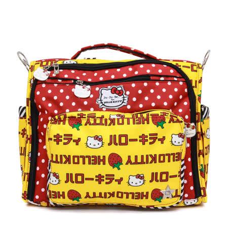 【美國Ju-Ju-Be媽媽包】HelloKitty聯名款-BFF後背/側背媽咪包:Strawberry Stripes 草莓條紋