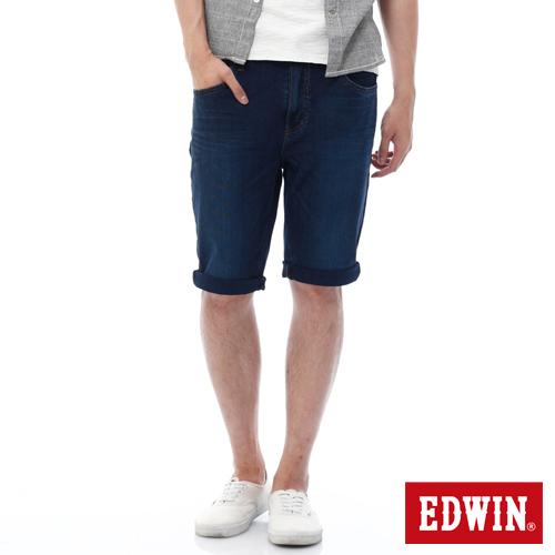 EDWIN 迦績褲JERSEYS紅腰頭短褲~男~石洗綠