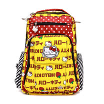 【美國JuJuBe媽咪包】HelloKitty聯名款BeRightBack手提/後背輕便型媽媽包-Strawberry Stripes 草莓條紋