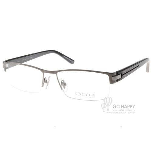 OGA眼鏡 經典半框款(槍古銅) #OGA 7407O GN023