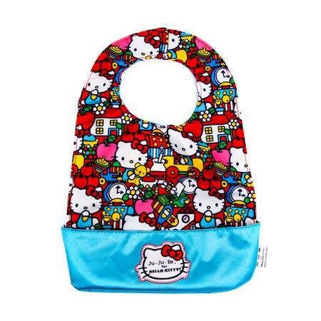 【美國Ju-Ju-Be媽咪包】HelloKitty聯名款BeNeat雙面防潑水嬰兒圍兜-Tick Tock 時光旅行