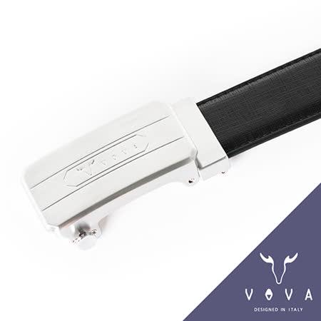 VOVA 都會時尚紋格雙面自動扣皮帶(亮銀色) VA001-003-NK
